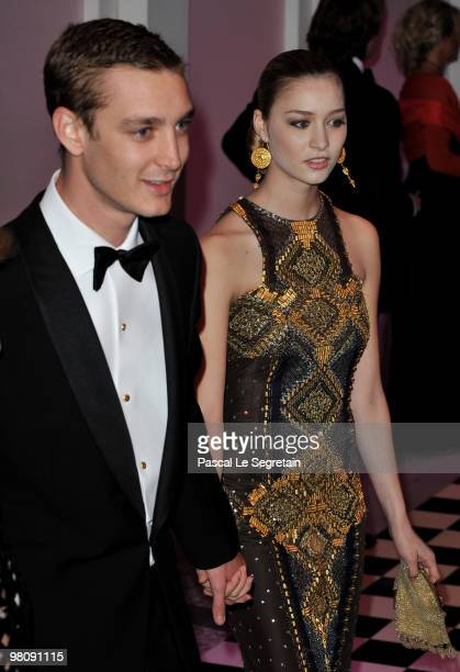 Pierre Casiraghi and princess Beatrice Borromeo arrive to attend the Monte Carlo Morocco Rose Ball 2010 held at the Sporting Monte Carlo on March 27...
