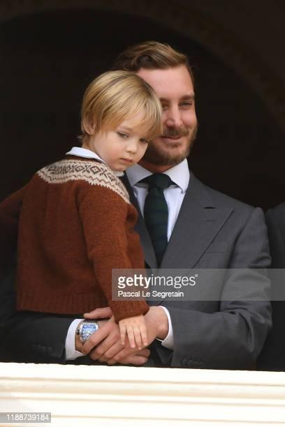 Pierre Casiraghi and son Stefano attend the Monaco National Day on November 19, 2019 in Monte-Carlo, Monaco.