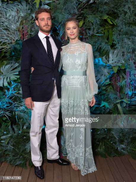Pierre Casiraghi and wife Beatrice Casiraghi attends the Alberta Ferretti Cruise 2020 Collection At Monaco Yacht Club on May 18, 2019 in Monte-Carlo,...