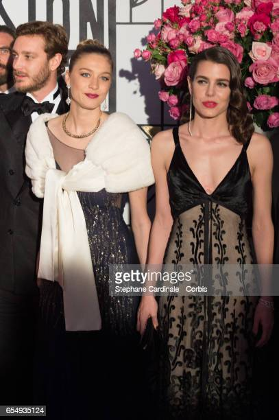 Pierre Casiraghi Beatrice Borromeo and Charlotte Casiraghi attend the Rose Ball 2017 To Benefit The Princess Grace Foundation at Sporting MonteCarlo...