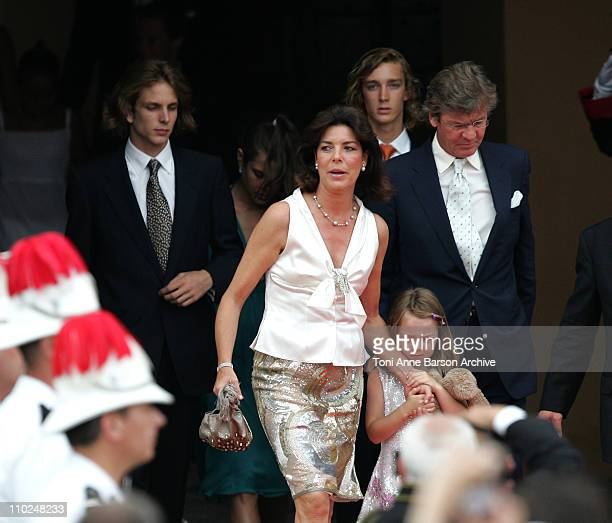 Pierre Casiraghi Charlotte Casiraghi Princess Caroline of Hanover Andrea Casiraghi and Prince ErnstAugust of Hanover