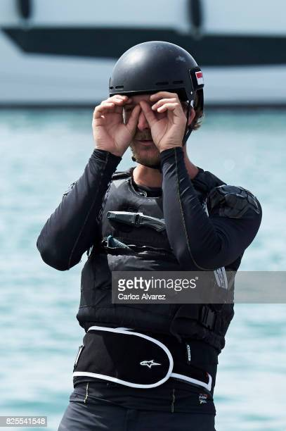 Pierre Casiraghi is seen on board of Malizia during the 36th Copa Del Rey Mafre Sailing Cup on August 2 2017 in Palma de Mallorca Spain