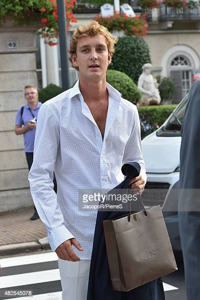 Pierre Casiraghi is seen on July 31, 2015 in Stresa, Italy.