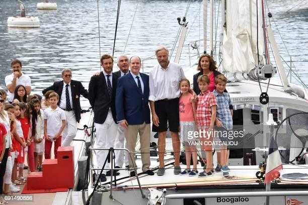 Pierre Casiraghi Monaco Yacht Club President Bernard d'Alessandri Prince Albert II of Monaco skipper of The Oceano Scientific Explorer Boogaloo Yvan...