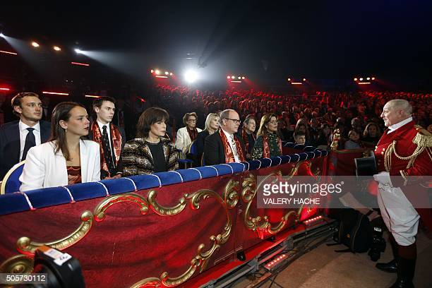 Pierre Casiraghi Pauline Ducruet Louis Ducruet Princess Stephanie Prince's Albert II of Monaco and Princess Caroline of Hanover attend the gala of...