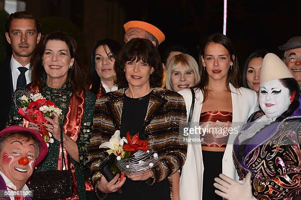 Pierre Casiraghi Pauline Ducruet Princess Stephanie of Monaco Princess Caroline of Hanover attend the 40th International Circus Festival on January...