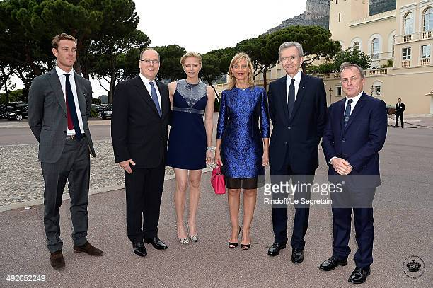 Pierre Casiraghi Prince Albert II of Monaco Princess Charlene of Monaco Helene Arnault Chief Executive Officer of LVMH Bernard Arnault and CEO of...