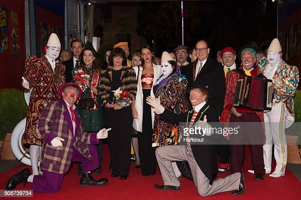 Pierre Casiraghi Princess Caroline of Hanover Princess Stephanie of Monaco Pauline Ducruet and Prince Albert II of Monaco attend the 40th...