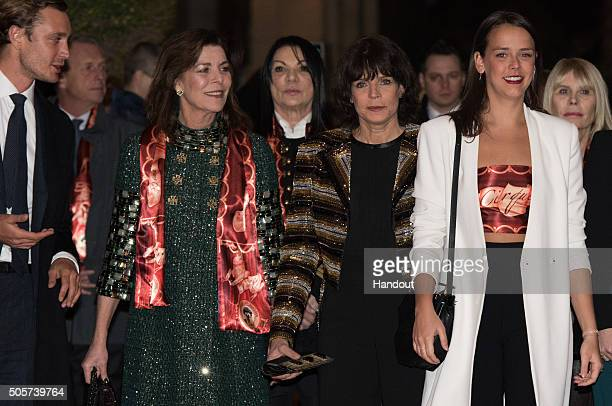 Pierre Casiraghi Princess Caroline of Hanover Princess Stephanie of Monaco and Pauline Ducruet attend the 40th International Circus Festival on...