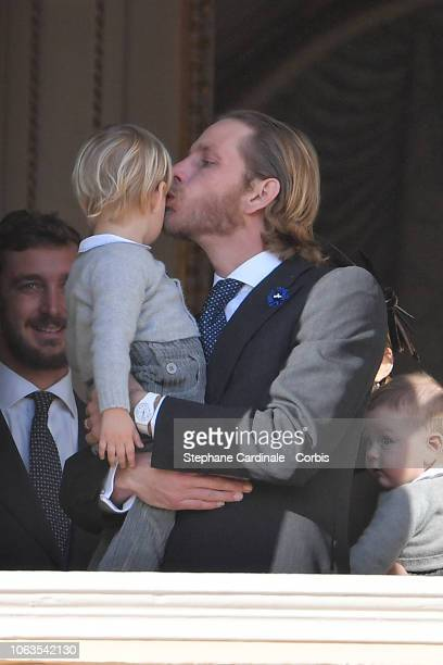 Pierre Casiraghi Stefano Casiraghi and Andrea Casiraghi attend Monaco National Day Celebrations on November 19 2018 in MonteCarlo Monaco