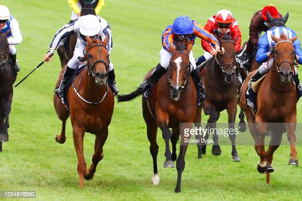 Pierre Charles Boudot riding FANCY BLUE during the meeting of Chantilly on July 5, 2020 in Chantilly, France.