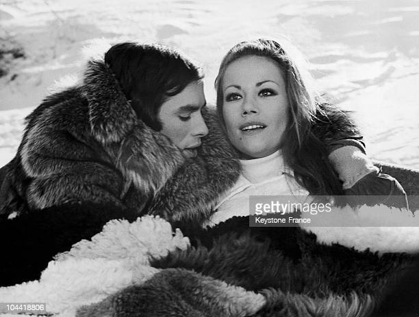 Pierre Clementi And Claudine Auger On The Shooting Of The Film Et Si On Faisait L'Amour In 1968