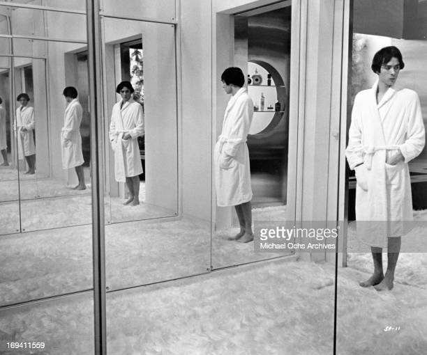 Pierre Clementi in bathrobe at the home of one of his wealthy patronesses in a scene from the film 'Listen Let's Make Love' 1968