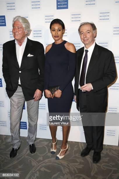 Pierre Cornette de Saint Cyr Tiffany Chevallier and Philippe Chevallier attend La Recherche en Physiologie Charity Gala at Four Seasons Hotel George...