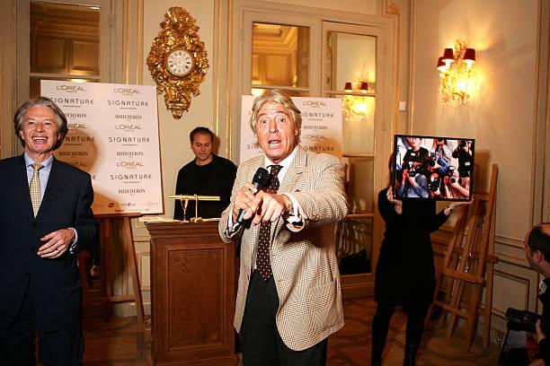 0415e747923 Pierre Cornette de Saint-Cyr and Georges Delettrez attend the Red Cross  charity auction