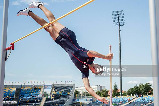 Pierre Cottin from France competes in Men's pole vault qualification during the IAAF World U20 Championships at the Zawisza Stadium on July 21 2016...