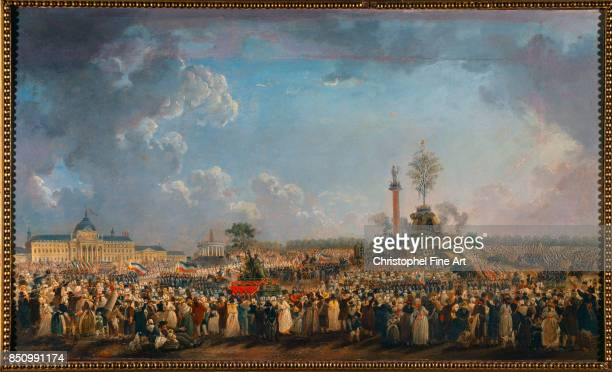 Pierre Demachy The Festival of the Supreme Being at the Champ de Mars June 8th 1794 1794 Oil on canvas 053 x 088 m Paris musee Carnavalet