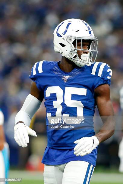 Pierre Desir of the Indianapolis Colts in action in the game against the Carolina Panthers at Lucas Oil Stadium on December 22, 2019 in Indianapolis,...