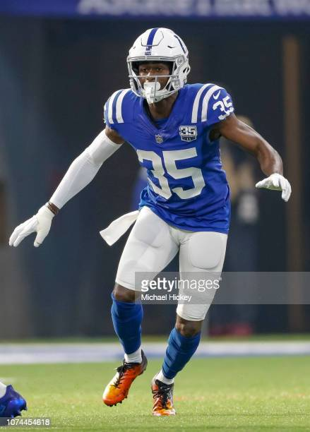 Pierre Desir of the Indianapolis Colts is seen during the game against the Dallas Cowboys at Lucas Oil Stadium on December 16, 2018 in Indianapolis,...