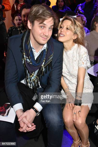 Pierre Ducrocq and Tristane Banon attend the Christophe Guillarme show as part of the Paris Fashion Week Womenswear Fall/Winter 2017/2018 on March 1...