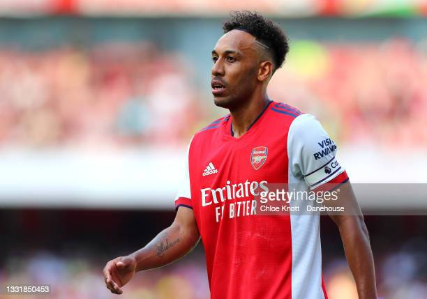 Pierre Emerick Aubameyang of Arsenal during the Pre Season Friendly match between Arsenal and Chelsea at Emirates Stadium on August 01, 2021 in...