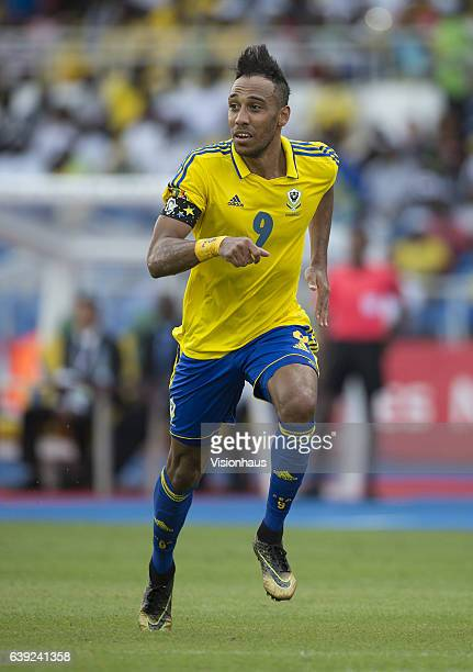 Pierre Emerick Aubameyang of Gabon during the Group A match between Gabon and Burkina Faso at Stade de L'Amitie on January 18 2017 in Libreville Gabon
