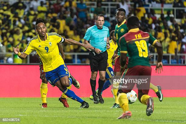 Pierre Emerick Emiliano François Aubameyang at African Cup of Nations 2017 between Cameroon and Gabon at Libreville Gabon on 20/1/2017