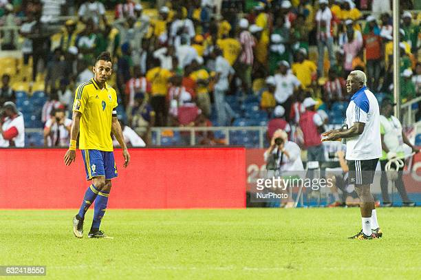 Pierre Emerick Emiliano François Aubameyang leaving disappointed at African Cup of Nations 2017 between Cameroon and Gabon at Libreville Gabon on...