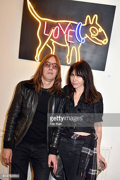 Pierre EmeryÊand Gil Lesage from Ultra Orange band attend the WarholAurele Tribute to the American Pope of Pop Art Exhibition Peview Cocktail at...