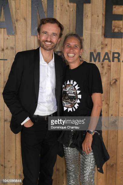 Pierre Emmanuel Angeloglou and Isabel Marant attend the L'Oreal X Isabel Marant Party as part of the Paris Fashion Week Womenswear Spring/Summer 2019...