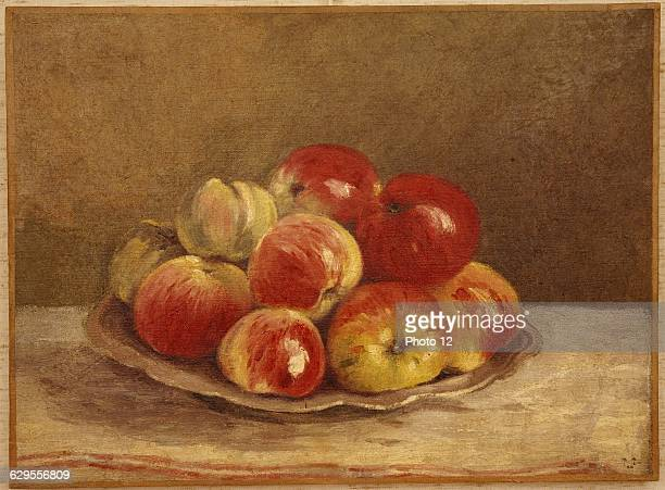 Pierre Ernest PrinsFrench schoolStill life with applesNature morte aux pommes19th centuryPastelPrivate collection.