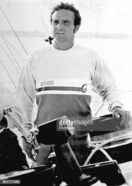 Pierre Fehlmann skipper of UBS Switzerland who is favourite to cross the Portsmouth finish line first in the Whitbread Round The World Race
