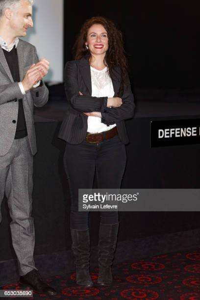 Pierre Filmon and Elsa Lunghini attend attends opening ceremony of Valenciennes Cinema Festival on March 13 2017 in Valenciennes France