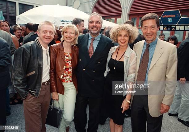 "Pierre Franckh, Ehefrau Michaela Merten,;Thilo Kleine, Michaela May, Dr. Dieter;Frank, ""Bavaria-Filmfest 99"", München,"