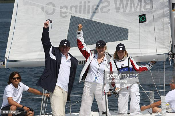 Pierre Franckh with His Daughter Julia and Michaela Merten at the BMW Sailing Cup On Wannsee in Berlin