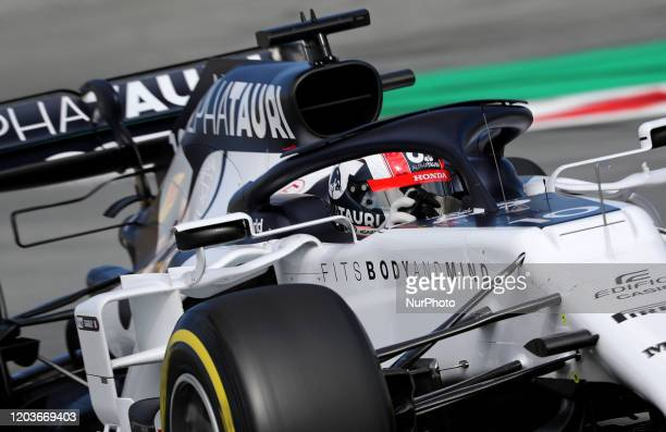 Pierre Gasly and the Alpha Tauri AT01 during the day 5 of the formula 1 testing on 27 February 2020 in Barcelona Spain