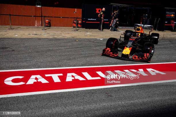 Pierre Gasly from France with 10 Aston Martin Red Bull Racing Honda RB15 in action during the Formula 1 2019 PreSeason Tests at Circuit de Barcelona...