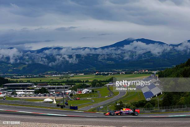 Pierre Gasly of France and Infiniti Red Bull Racing is seen driving during Formula One testing at the Red Bull Ring on June 23 2015 in Spielberg...