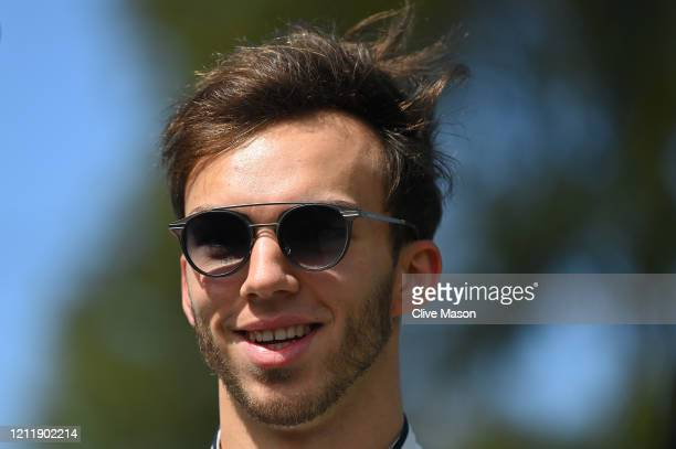 Pierre Gasly of France and Scuderia AlphaTauri looks on in the Paddock during previews ahead of the F1 Grand Prix of Australia at Melbourne Grand...