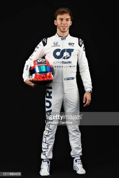 Pierre Gasly of France and Scuderia AlphaTauri poses for a photo in the Paddock during previews ahead of the F1 Grand Prix of Australia at Melbourne...