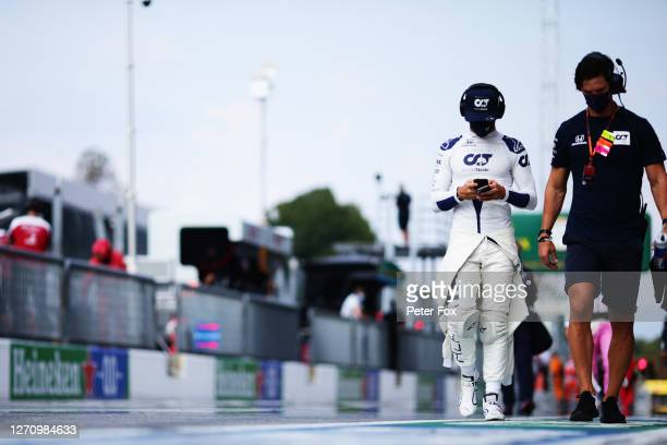 Pierre Gasly of France and Scuderia AlphaTauri walks in the Pitlane prior to the F1 Grand Prix of Italy at Autodromo di Monza on September 06, 2020...