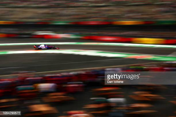 Pierre Gasly of France and Scuderia Toro Rosso driving the Scuderia Toro Rosso STR13 Honda during final practice for the Formula One Grand Prix of...