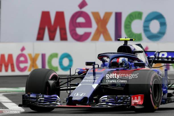 Pierre Gasly of France and Scuderia Toro Rosso driving the Scuderia Toro Rosso STR13 Honda on track during qualifying for the Formula One Grand Prix...