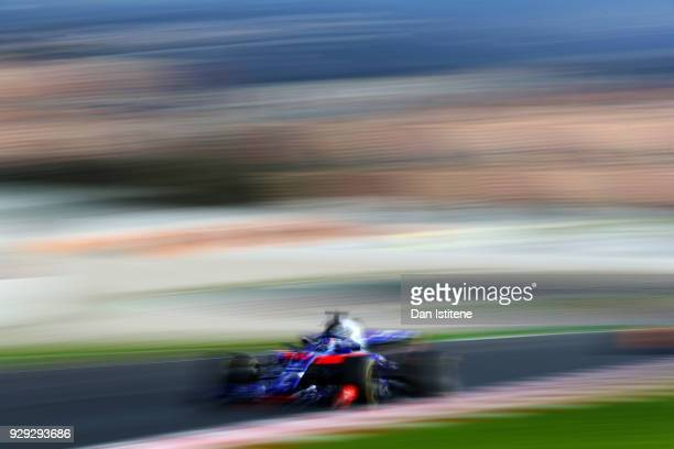 Pierre Gasly of France and Scuderia Toro Rosso driving the Scuderia Toro Rosso STR13 Honda on track during day three of F1 Winter Testing at Circuit...