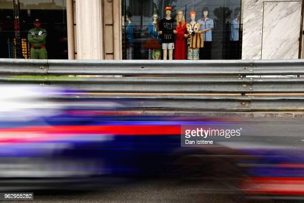 Pierre Gasly of France and Scuderia Toro Rosso driving the Scuderia Toro Rosso STR13 Honda on track during the Monaco Formula One Grand Prix at...