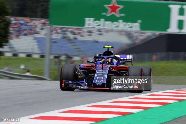 Pierre Gasly of France and Scuderia Toro Rosso on track during practice for the Formula One Grand Prix of Austria