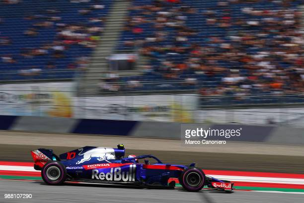 Pierre Gasly of France and Scuderia Toro Rosso on track during qualifying for the Formula One Grand Prix of Austria