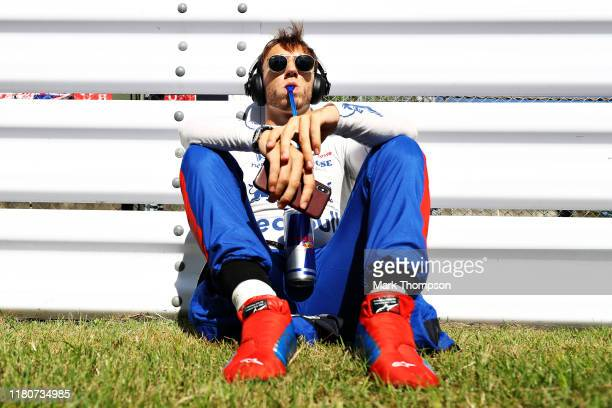 Pierre Gasly of France and Scuderia Toro Rosso prepares to drive on the grid before the F1 Grand Prix of Japan at Suzuka Circuit on October 13 2019...