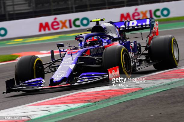Pierre Gasly of France and team Red Bull Toro Rosso Honda competes during practice for the F1 Grand Prix of Mexico at Autodromo Hermanos Rodriguez on...