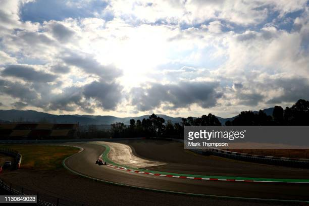 Pierre Gasly of France driving the Aston Martin Red Bull Racing RB15 on track during day two of F1 Winter Testing at Circuit de Catalunya on February...